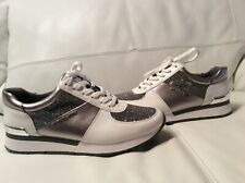 Michael Kors Allie Trainer Leather Sneakers Size 6M
