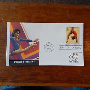 Estate Find - FDC OLYMPICS, Women's Gymnastics May 2, 1996 Centennial Games