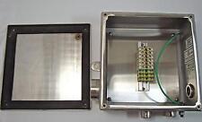 10x10x5 Steeline NEMA 4X Control Panel Enclosure 101005A10L4X08/- w/bkplt