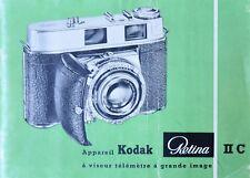 Instruction manual for camera Kodak Retina IIC (Fr)