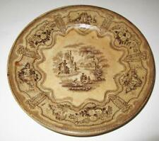 Antique RC & Co R Cochran & Company SYRIA Brown Transferware Salad Plate 7 3/4""