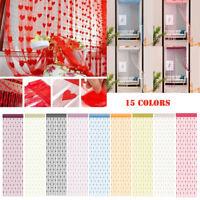 50x200cm Love Heart String Curtain Window Door Divider Sheer Curtain Valance D