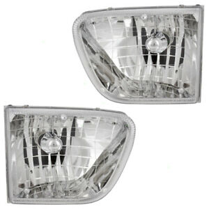 Pair Set Headlights Headlamps Housing Assembly for 1998-2001 Mercury Mountaineer
