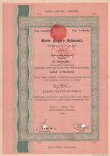 Bankn Negara Indonesia Bond 1962 Jakarta Rp 500 No. 006696