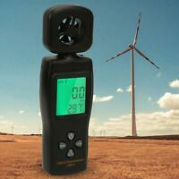 SMART SENSOR Wind Speed Gauge Air Velocity Meter Digital Anemometer Thermometer