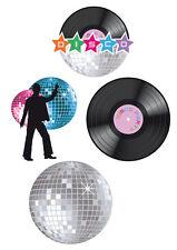 70er Jahre Party Disco Deko 4er-Set NEU - Partyartikel Dekoration Karneval Fasch