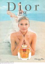 PUBLICITE ADVERTISING 065  1997  DIOR  parfum femme DUNE