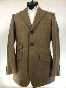 Bespoke Purdey Herringbone Tweed Shooting Suit Jacket, Vest & Breeks RRP £3,000