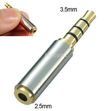 3.5mm Male to 2.5mm Female Stereo Audio Headphone Jack MIC Adapter Converter