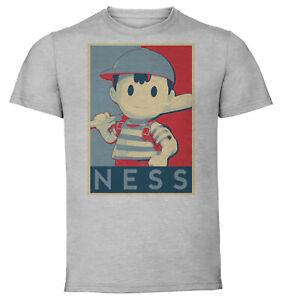 T-Shirt  - Gray - Propaganda - Smash Bros - Ness variant