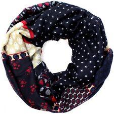 Designer Loop Schal Schlaufenschal mit Sterne und Totenköpfe