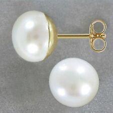 Echt Gold 585 14kt Ohrstecker Stecker Süßwasserperle Perlenohrstecker 7,5 mm
