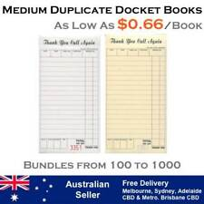 MEDIUM RESTAURANT DOCKET BOOKS - DUPLICATE CARBONLESS (As low as $0.66 per book)