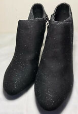 LADIES BLACK GLITTER ANKLE BOOTS NEW SIZE 8