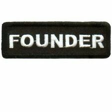 FOUNDER CLUB OFFICER Embroidered Biker Motorcycle MC Club Vest Patch PAT-0660
