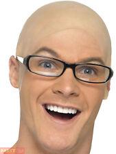 Adults Bald Skin Head Mens Fancy Dress Accessory Latex Cap Uncle Fester