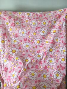 VINTAGE WABASSO VOGUE COTTON PINK GROOVY DAISY FLOWER POWER SET 60s/70s FABRIC