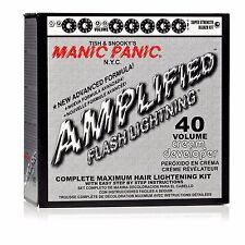 Manic Panic Amplified Flash Lightning Complete Hair Lightening Bleach Kit 40 Vol
