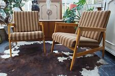 PAIR VINTAGE RETRO GERMAN DANISH STYLE COCKTAIL LOUNGE ARMCHAIRS / CHAIRS M17-22