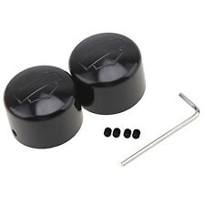 2Pcs Front Axle Nut Cap Screw Bolts Wheel Cover For Harley Sportster XL 883 1200