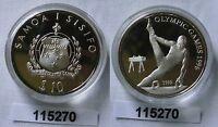 10 Dollar Silber Münze Samoa Olympiade 1996 Atlanta Turner 1993 (115270)