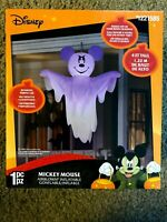 GEMMY NEW HALLOWEEN 4 FT DISNEY HANGING  MICKEY MOUSE GHOST Airblown Inflatable