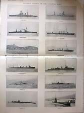 1921 Notable Vessels Of Japanese Navy Battleships Destroyers Submarines