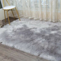 New Faux Fur Area Rugs Hairy Shaggy Large Faux Sheepskin Balcony Carpet Washable