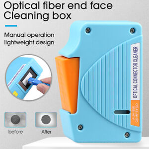 Fiber End Face Cleaning Box Fiber Wiping Tool Pigtail Cleaner Cassette Cleaner