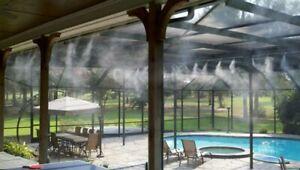 Difusor Nebulizador de Agua para terraza o jardín con Manguera de 10 Metros