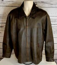 Winchester limited promo edition brown leather jacket mens M rifle gun Biker