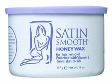 Satin Smooth wax for facial hair removal 14 oz can for spa and threading salon.