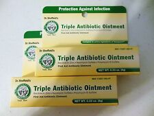 New X2 Dr. Sheffields Triple Antibiotic Ointment First Aid Ointment .33 Oz Tubes