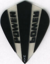 Black and Clear POWER MAX Kite Dart Flights: 150 Microns Thick: 3 per set