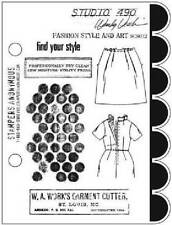 STUDIO 490 STAMPERS ANONYMOUS Cling Rubber Stamp FASHION STYLE AND ART SCS032
