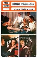 FICHE CINEMA : HISTOIRES EXTRAORDINAIRES Bardot,Delon,Fonda1968 Tales of Mistery