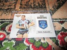2013 NRL ELITE ORIGIN SENSATIONS CASE CARD NSW BLUES PAUL GALLEN OS1