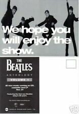 BEATLES ANTHOLOGY Promotional Advertising Photo Postcard 5 x 7 Oversized 1995