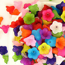 C160- 60pcs Little Lily Plastic Flower Bead (Mixed Col)