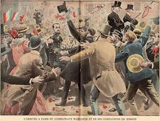 PARIS ARRIVEE DU COMMANDANT MARCHAND & COMPAGNON DE MISSION IMAGE 1899 PRINT