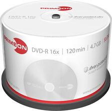 50 Primeon Rohlinge DVD-R silver protect disc 4,7GB 16x Spindel