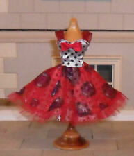1/12TH SCALE DOLLS' SATIN AND NET DRESS