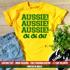 Ladies Aussie Oi T Shirt Funny Australia Emigrate Holiday Moving Day Gift Top