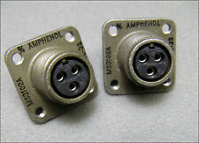 Qty(2) Amphenol Ms3102A-10Sl-3S 3 Pin Ms Round Connector
