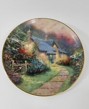 "Thomas Kinkade's Enchanted Cottages ""Rose Garden Cottage"" Knowles Bradex Plate"