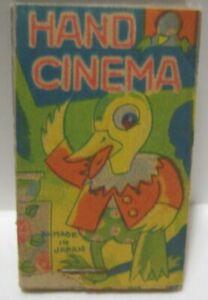 Old Pre War Japan Paper Toy Hand Cinema Flip Book - Duck Performing Tricks