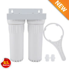 Dual Whole House Water Filter Purifier with Carbon Block and Sediment Filters AP