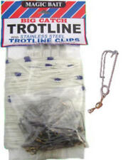 Magic Bait 77BCTL Big Catch Fishing Trotline Stainless Steel Trotline Clips