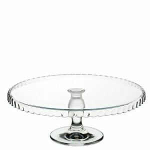 """Glass Patisserie Downturn Footed Cup Cake Plate 12.5"""" (32cm)"""