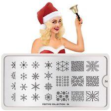MoYou London FESTIVE 56 Collection Stamping Schablone Schneeflocke Weihnachten